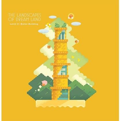 星のカービィ ザ・ランドスケープ・オブ・ドリームランド ハンドタオル/Lv.3バタービルディング