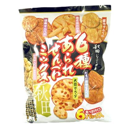 秋田いなふく米菓 6種あられせんべいミックス