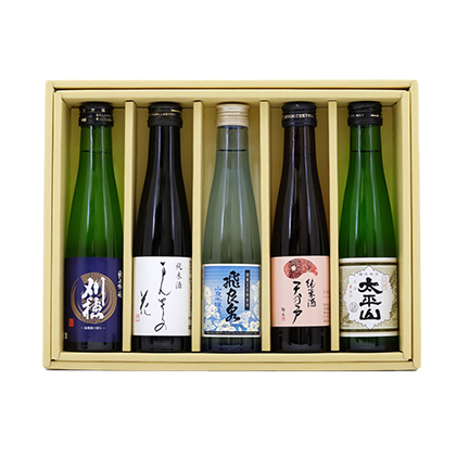 秋田の地酒のみくらべEセット 180ml×5本セット