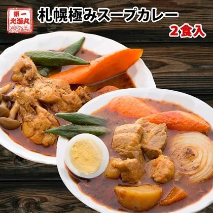 札幌極みスープカレー 2食 豚角煮1食 チキン1食 ib-009