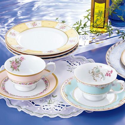 ナルミ フローラルブティック 5客アソート碗皿