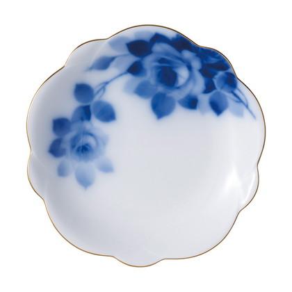 大倉陶園 ブルーローズ 梅型小皿