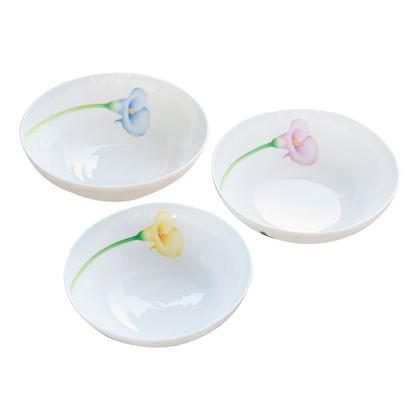 香蘭社 カラーリリー三ツ組中鉢