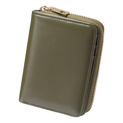アーバンリサーチ ラウンドファスナー折財布 グリーン