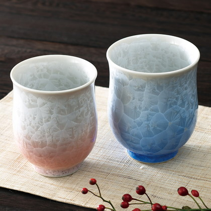 京焼 花結晶 組湯呑