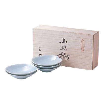 白山陶器 青白磁 小皿(木箱入)