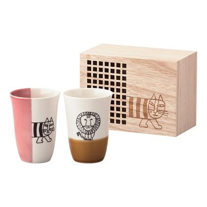 リサ・ラーソン フリーカップセット(木箱入)