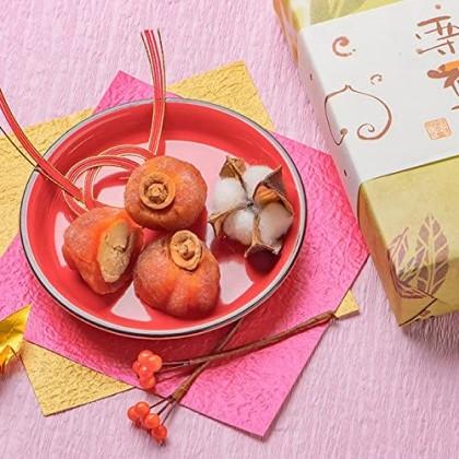 恵那良平堂 干し柿と栗きんとんが合わさった栗福柿 8個入り