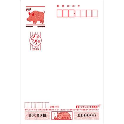 2019年用年賀はがき 無地(インクジェット写真用)(10枚セット)
