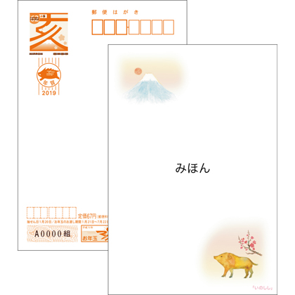 2019年用年賀はがき 絵入り[寄附金付]全国版(10枚セット)