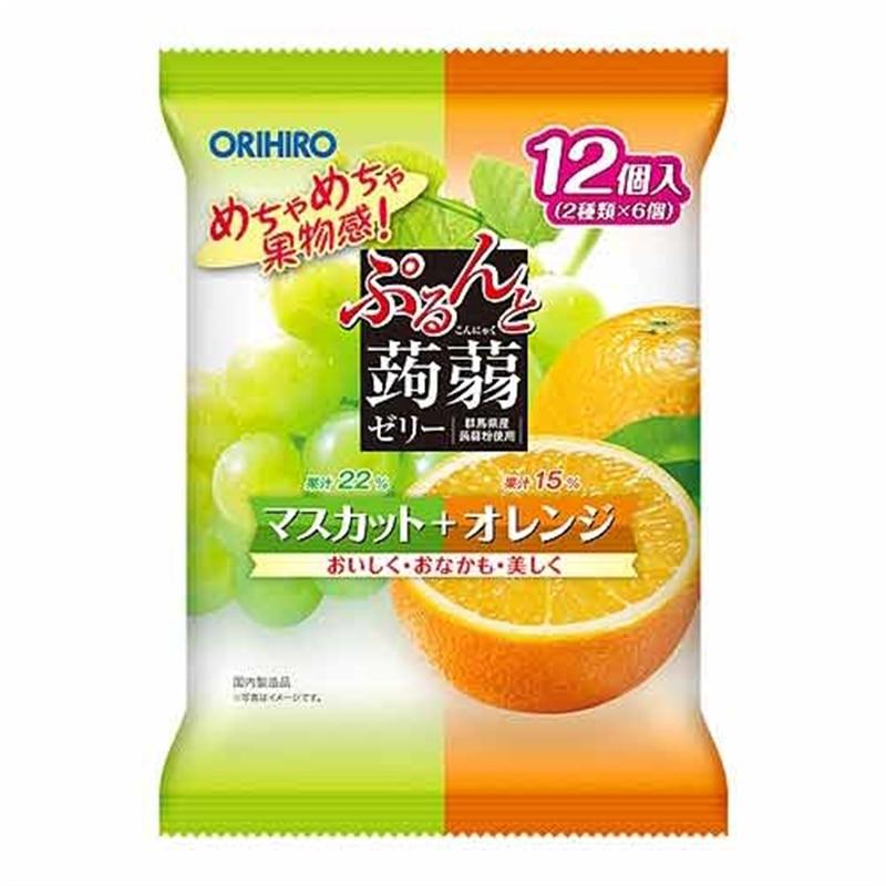 ぷるんと蒟蒻ゼリー パウチ マスカット+オレンジ