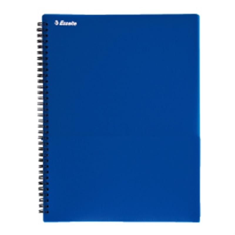 エセルテ 8ポケットファイル ブルー