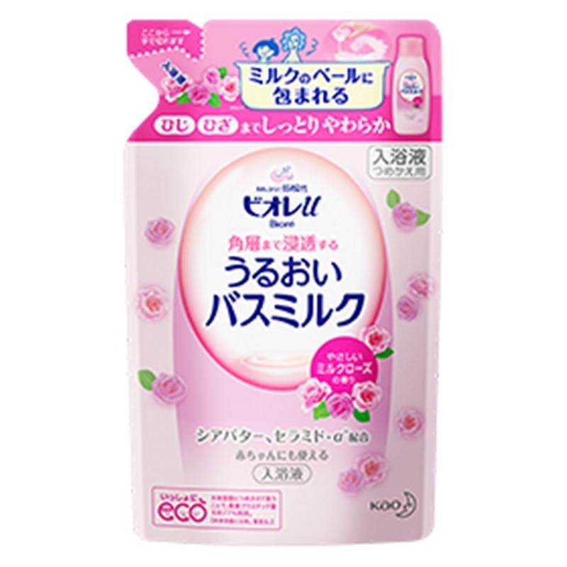 ビオレu 角層まで浸透する うるおいバスミルク やさしいミルクローズの香り つめかえ
