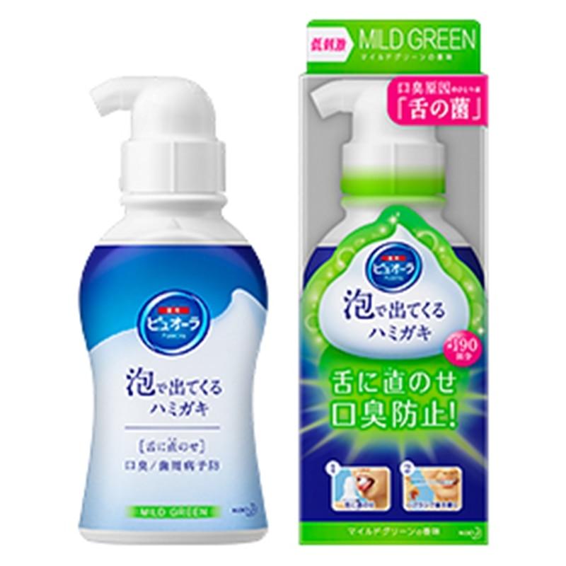 薬用ピュオーラ 泡で出てくるハミガキ マイルドグリーンの香味