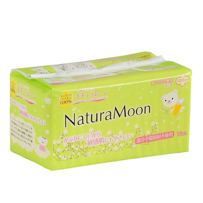 ナチュラムーン 生理用ナプキン 多い日昼用 羽根つき