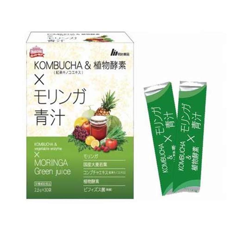 KOMBUCHA(紅茶キノコエキス)&植物酵素×モリンガ青汁