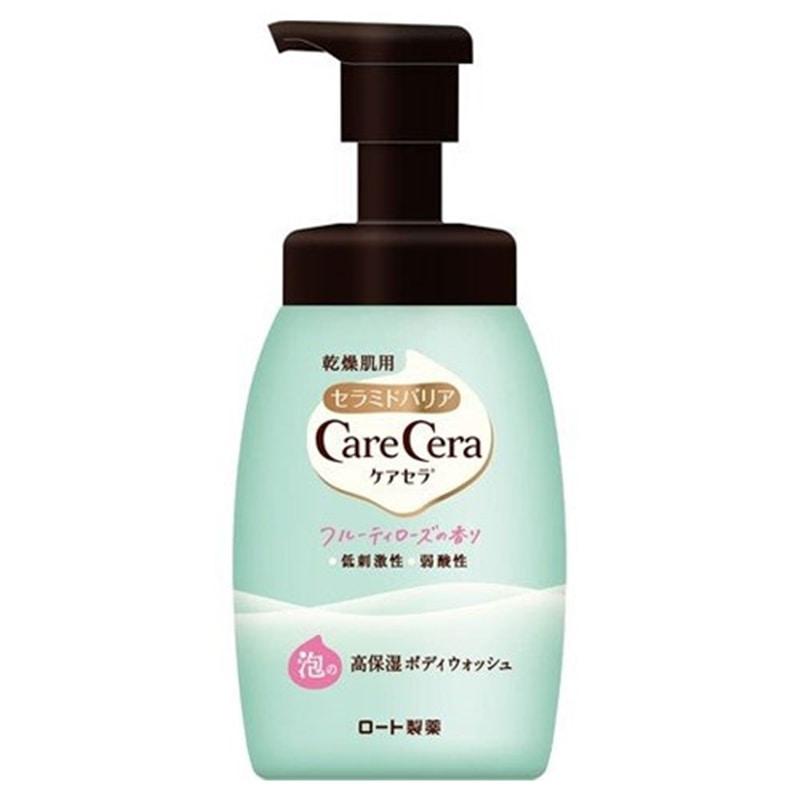ケアセラ 泡の高保湿ボディウォッシュ フルーティローズの香り