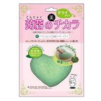 ドライ蒟蒻洗顔マッサージパフ 緑茶