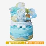 バニーズバイザベイおむつケーキ2段 ブルー