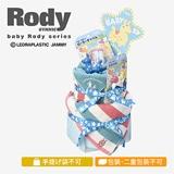 ロディ おむつケーキ2段 ブルー