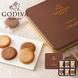 ゴディバ クッキーアソートメント18枚入 写真入りメッセージカード(有料)込