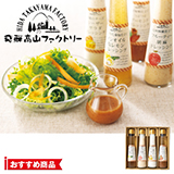 飛騨高山ファクトリー 食菜味 すこやかドレッシングギフトA 写真入りメッセージカード(有料)込
