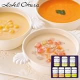 ホテルオークラ スープ缶詰7個詰合せ 写真入りメッセージカード(有料)込