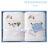 ウェッジウッド フェイスタオル2枚セット 写真入りメッセージカード(有料)込