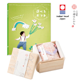 選べるギフト 鳥コース+今治謹製 千歳はんかち ピンク  写真入りメッセージカード(有料)込