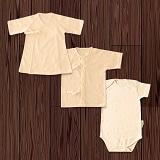 オーガニックコットンの出産祝いセット(0ケ月から1歳まで使えるベビー用3枚入)
