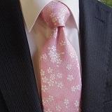 桜花ネクタイ ピンク