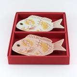 紅鯛&白鯛 銘々皿ギフトセット(化粧箱)
