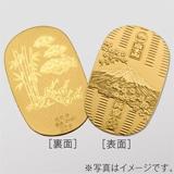 〈光則作〉純金製 富士桜小判 (大・松竹梅)