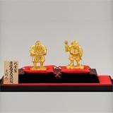 〈光則作〉純金製 吉祥大黒天・恵比須