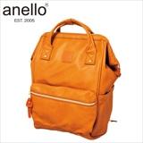 [anello(R)(アネロ)] 合皮口金リュック キャメル
