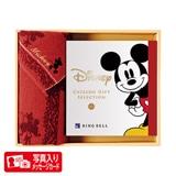 ディズニーカタログギフトセレクション スマイルS B+フェイスタオルセット(レッド) 写真入りメッセージカード(有料)込