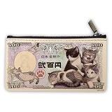 子猫紙幣 小銭入れ
