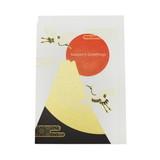 JXCD−089和風シルク印刷カード 富士山と鶴
