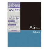 CHO−040A5ジャバラノート black×blue  7ミリ罫線