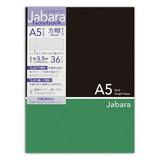 CHO−042A5ジャバラノート black×green  5ミリ方眼